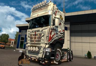 Scania R&S Topline V8 skin 1.26