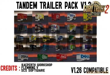 Tandem Trailer Pack Fixed for Ets2 1.2.1