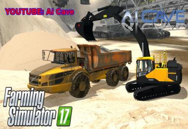 Volvo EC300E Excavator & A40 Truck Mods