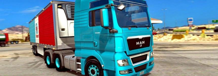 Man TGX + Interior + New Sound (v1.6.x) for ATS v1.0