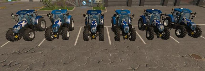 New Holland T7 Scottish flag v1.0