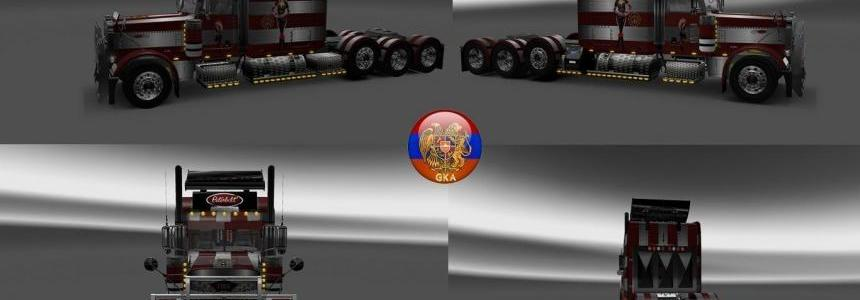 Peterbilt 389 Peterbilt 389v2 Fire Strip Skins 1.26.6s