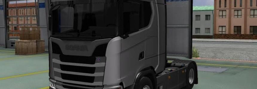 Scania New S Series + BG Plates and Trailer