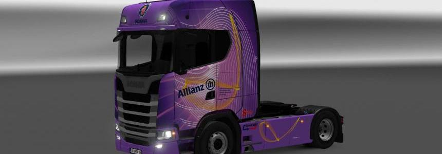 Scania S580 Allianz skin 1.26