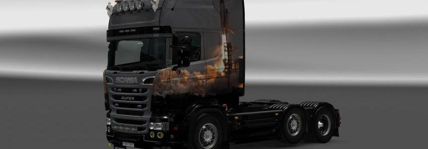 SpaceShuttle skin for RJL's Scania R/S 1.12.x