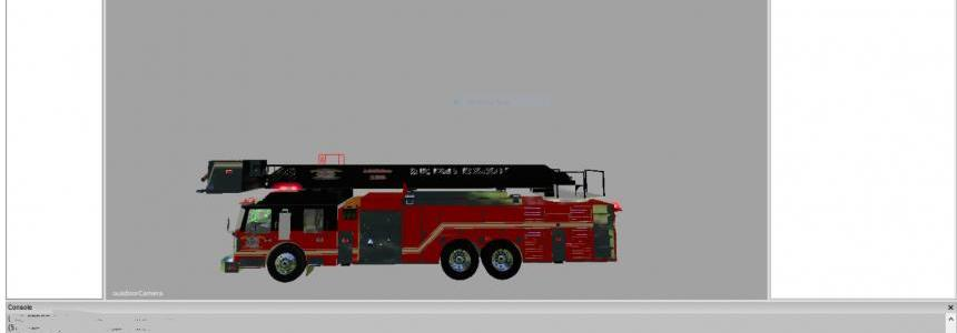 Tower ladder fire truck v1