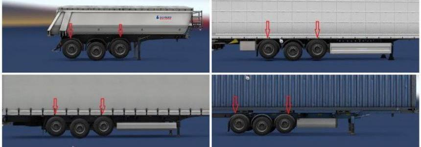 Two Lifting Axes on Trailers v1.0