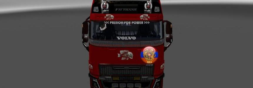 Volvo fh16 2012 Volvo fh16 2013 Metallic 3D Skeleton Skin