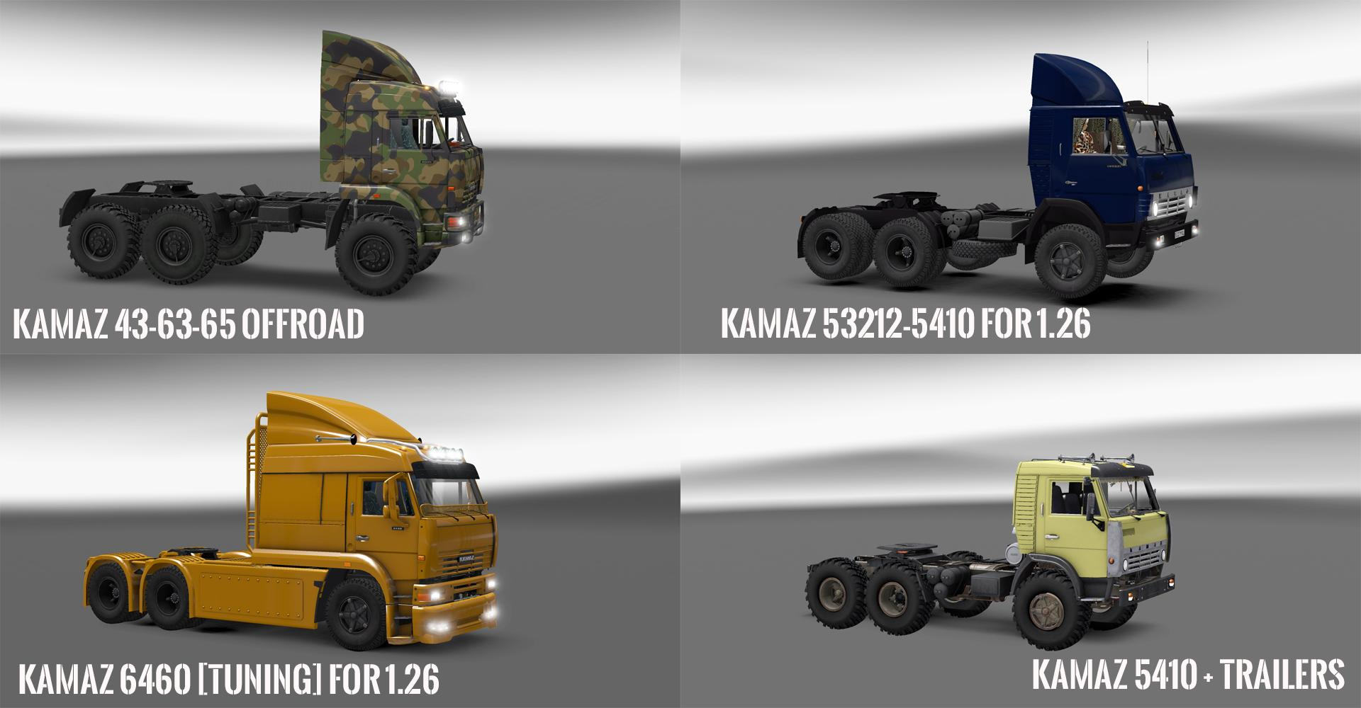 PACK 10.4 COMPT. TRUCKS WITH POWERFULL ENGINES