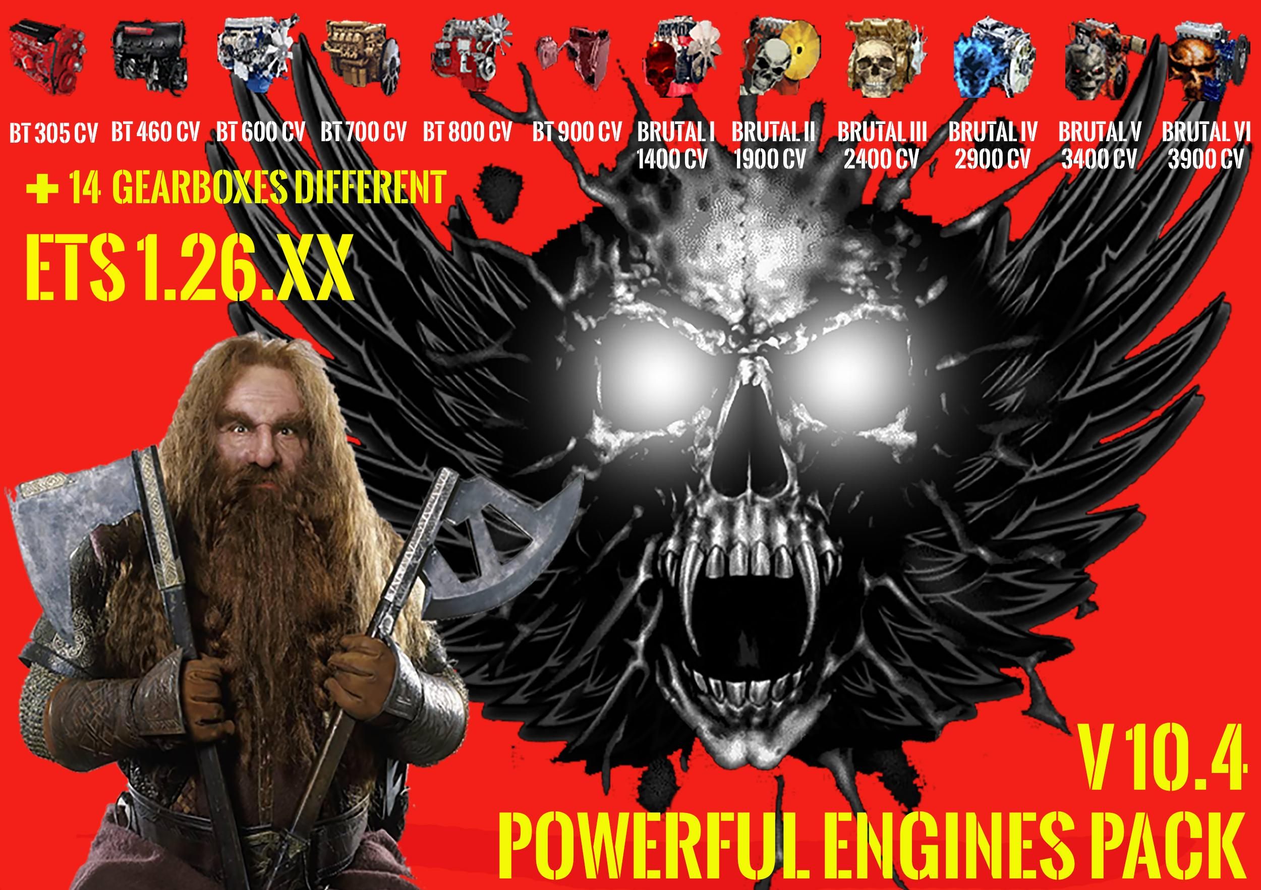 PACK POWERFULL ENGINES + GEARBOXES V10.4 FOR 1.26.X