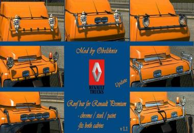Roofbar for Renault Premium v1.1