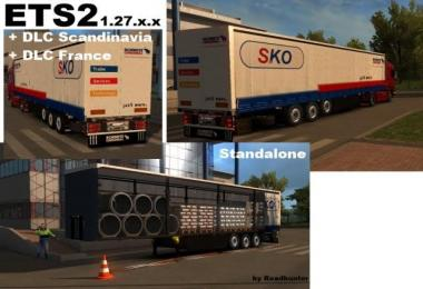 Schmitz SKO Flatbed Trailer with Building Material v3.0