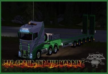 TRUCK SCANIA R1000 6X4 AND DOLL TRANSLYRE TFSGROUP