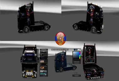 Volvo fh16 2012 Volvo fh16 2013 Metallic Body Painting Skin