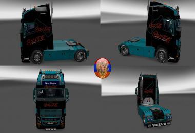 Volvo fh16 2012 Volvo fh16 2013 Metallic Coca Cola Skin