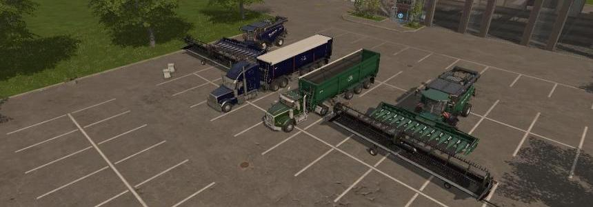 FS17 Harvesters, Trucks, Trailers, Headers Pack v4.0