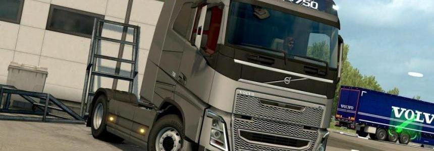 Gray grille for all VOLVO FH 2012 engines for ETS 2
