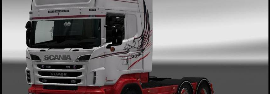 Griffin White Skin for RJL's Scania R / S v2.2