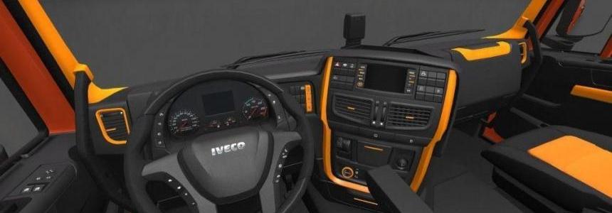 Iveco Hi-Way Black Orange Interior