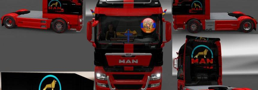 Man TGX & Trailer Doubledeck Man Style Combo Skin Packs
