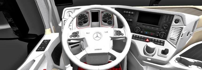 Mercedes Actros MP4 2014 White / Biege / Red Interior