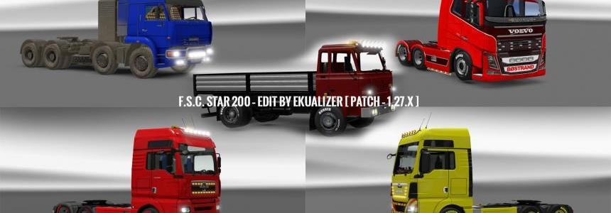 Pack 10.9 compt. Trucks with Powerful 10.5 1.27