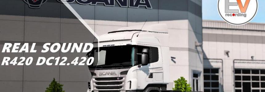 Real Sound Scania R, G DC12 420 EEV E5 Engine voice records v1.5