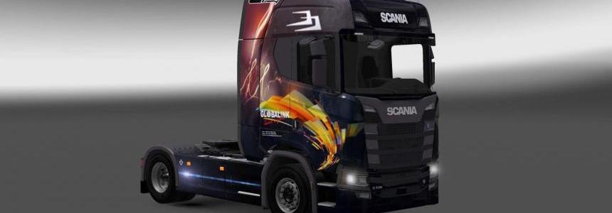 Scania S730 Globalink skin 1.27