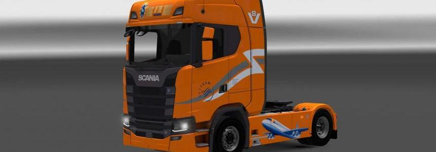 Scania S730 Skyteam skin 1.27