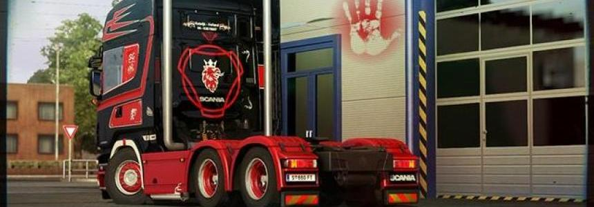 SCANIA V8 STRIGHT PIPE UNIQUE SOUND MOD THE RUNNERS