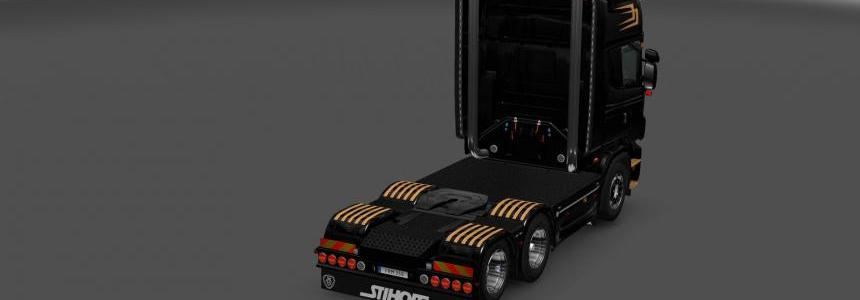 Simple black / gold skin for RJL's 4series Scania 1.27.x