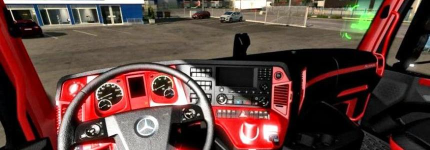 The interior of the Redline for Mercedes Actros MP4