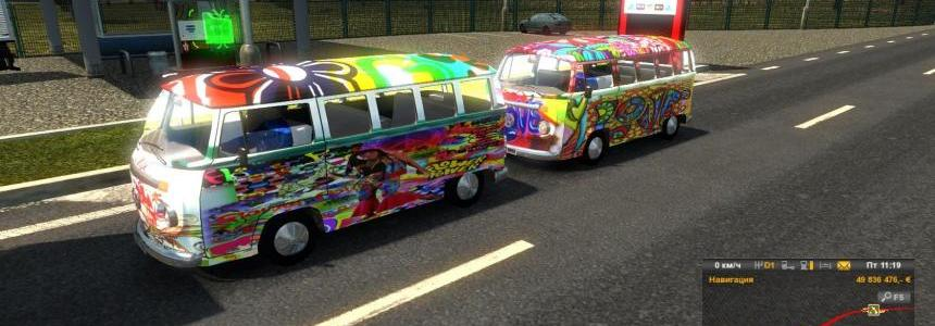 Volkswagen Hippie Van v2 In Traffic
