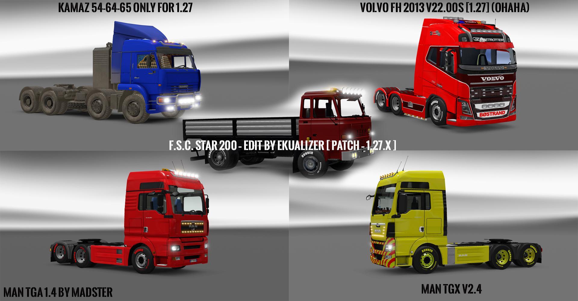 PACK 10.9 COMPT. TRUCKS WITH POWERFUL 10.5 [1.27.x]