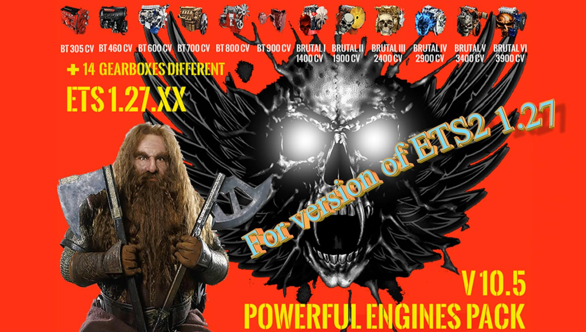 PACK POWERFUL ENGINES + GEARBOXES V10.5 FOR [1.27.X]