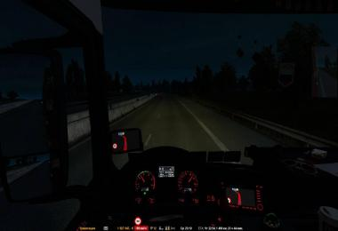 Changed the headlights of a truck and traffic