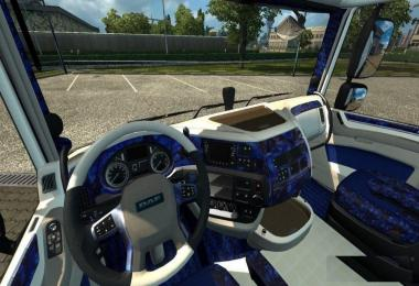 Daf xf E6 Interior Blue White