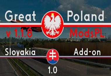 Great Poland v1.1.8 by ModsPL + Slovakia Add-on v1.0
