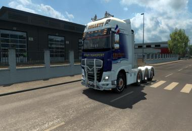 Heavy Haulage chassis addon for DAF E6 SCS (1.27)