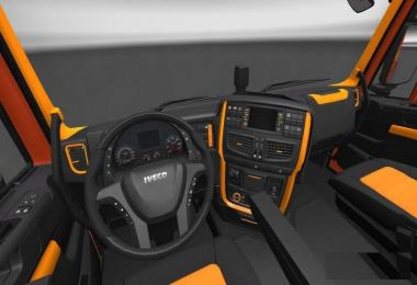 Iveco Hi-Way Black Orange Interior