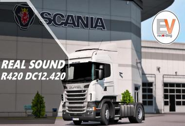 Real Sound Scania R, G DC12 420 EEV E5 Engine voice records v1.5