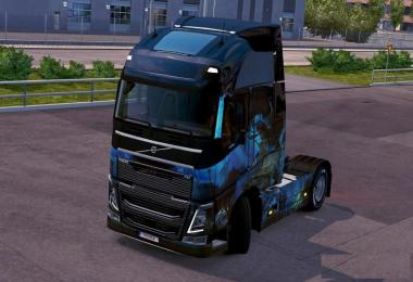 Remove the inscription at the top of the cab on the Volvo FH16 2012