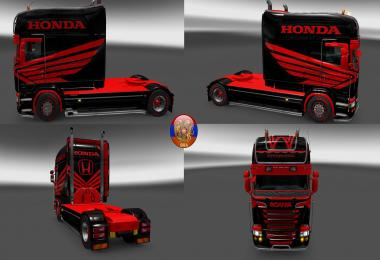 Scania RS & Trailer Aero Dynamic Honda Style Combo Skin Packs