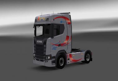 Scania S730 Dania Trucking skin 1.27