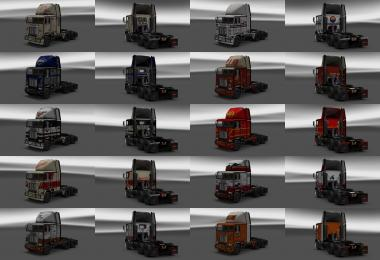 Skin Pack and dirty interiors for trucks Freightliner FLB v1.3