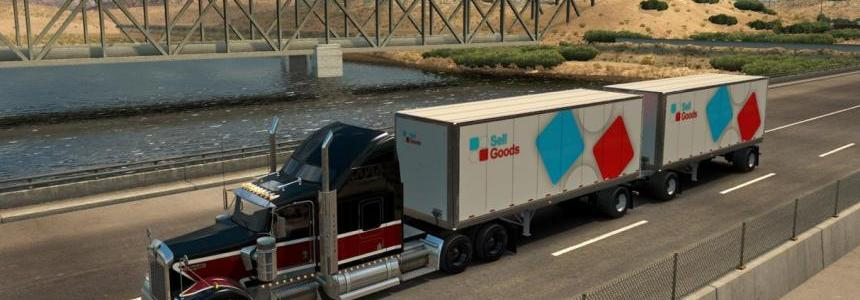 New Double Trailers ETS2 & ATS v1.0