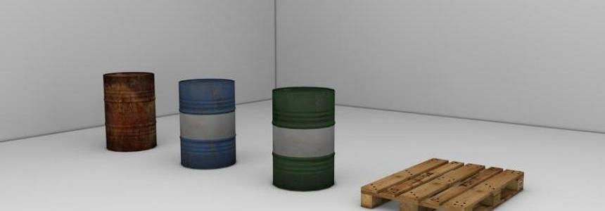 Barrels with Europalette