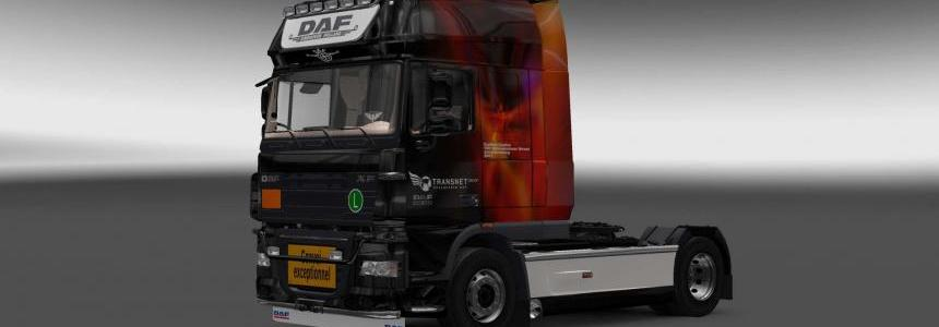 DAF XF 105 Transnet skin 1.27