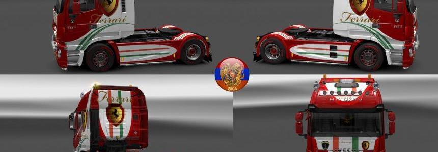 Iveco Hiway Combo Skin Packs Ferrari HW 1.27.1.7s
