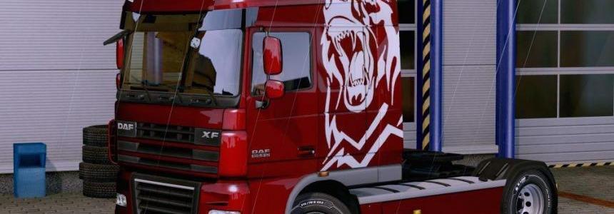 Paint White Bear Mercedes Actros 2014 for all Trucks